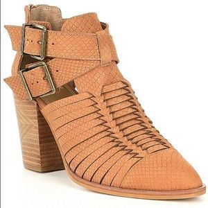 Gianni Bini Wrapped Up Cut Out Boots Heels